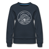 Connecticut Women's Sweatshirt - Retro Mountain Women's Connecticut Crewneck Sweatshirt - navy