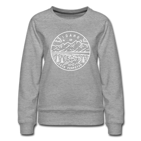 Idaho Women's Sweatshirt - State Design Women's Idaho Crewneck Sweatshirt