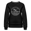 Louisiana Women's Sweatshirt - Retro Mountain Women's Louisiana Crewneck Sweatshirt - black