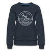 Louisiana Women's Sweatshirt - Retro Mountain Women's Louisiana Crewneck Sweatshirt - navy