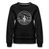 Texas Women's Sweatshirt - Retro Mountain Women's Texas Crewneck Sweatshirt - black