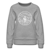 Texas Women's Sweatshirt - Retro Mountain Women's Texas Crewneck Sweatshirt - heather gray