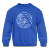 Arkansas Youth Sweatshirt - State Design Youth Arkansas Crewneck Sweatshirt