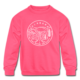 Alabama Youth Sweatshirt - State Design Youth Alabama Crewneck Sweatshirt
