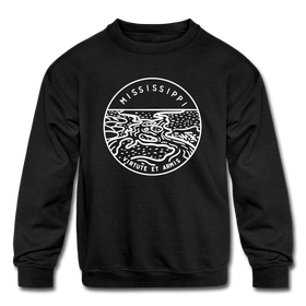 Mississippi Youth Sweatshirt - State Design Youth Mississippi Crewneck Sweatshirt