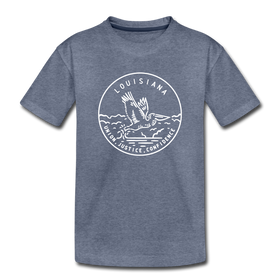 Louisiana Youth T-Shirt - State Design Youth Louisiana Tee