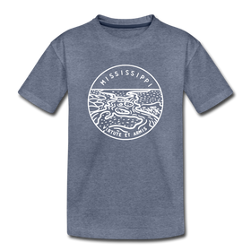 Mississippi Youth T-Shirt - State Design Youth Mississippi Tee