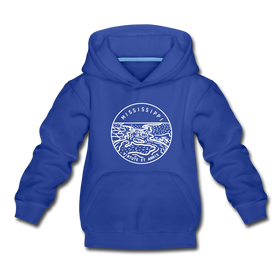 Mississippi Youth Hoodie - State Design Youth Mississippi Hooded Sweatshirt