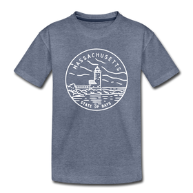 Massachusetts Toddler T-Shirt - State Design Massachusetts Toddler Tee