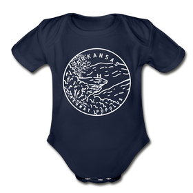 Arkansas Baby Bodysuit - Organic State Design Arkansas Baby Bodysuit