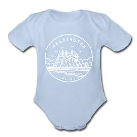 Washington Baby Bodysuit - Organic State Design Washington Baby Bodysuit
