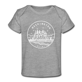Washington Baby T-Shirt - Organic State Design Washington Infant T-Shirt