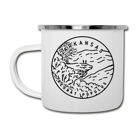 Arkansas Camp Mug - State Design Arkansas Mug