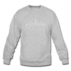 Seattle, Washington Sweatshirt - Skyline Seattle Crewneck Sweatshirt