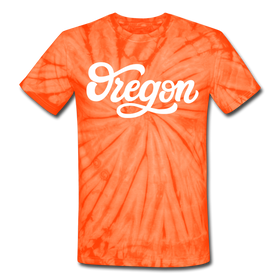 Oregon Tie-Dye T-Shirt - Hand Lettered Oregon Unsex T Shirt