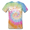 Oregon Tie-Dye T-Shirt - Hand Lettered Oregon Unsex T Shirt - rainbow