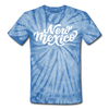 New Mexico Tie-Dye T-Shirt - Hand Lettered New Mexico Unsex T Shirt - spider baby blue
