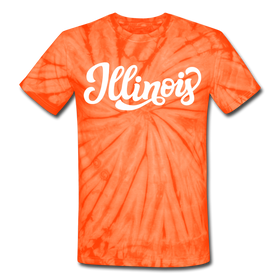 Illinois Tie-Dye T-Shirt - Hand Lettered Illinois Unsex T Shirt