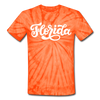 Florida Tie-Dye T-Shirt - Hand Lettered Florida Unsex T Shirt - spider orange