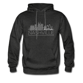Nashville, Tennessee Hoodie - Skyline Nashville Crewneck Hooded Sweatshirt