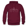 Seattle, Washington Hoodie - Skyline Seattle Crewneck Hooded Sweatshirt