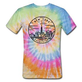 New York Tie-Dye T-Shirt - State Design New York Unsex T Shirt
