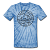 North Dakota Tie-Dye T-Shirt - State Design North Dakota Unsex T Shirt