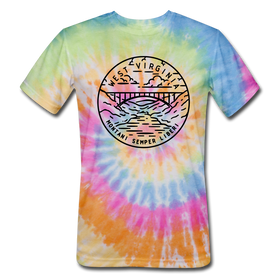 West Virginia Tie-Dye T-Shirt - State Design West Virginia Unsex T Shirt