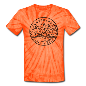 Wyoming Tie-Dye T-Shirt - State Design Wyoming Unsex T Shirt