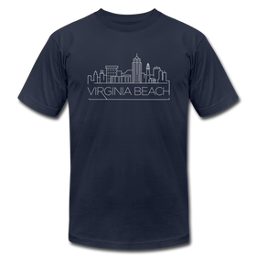 Virginia Beach, Virginia T-Shirt - Skyline Unisex Virginia Beach T Shirt