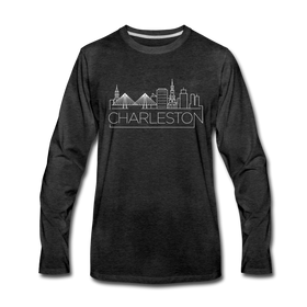 Charleston, South Carolina Long Sleeve T-Shirt - Skylines Unisex Charleston Long Sleeve Shirt