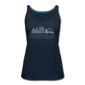 Nashville, Tennessee Women's Tank Top - Skyline Women's Nashville Tank Top