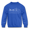 Charleston, South Carolina Youth Sweatshirt - Skyline Youth Charleston Crewneck Sweatshirt