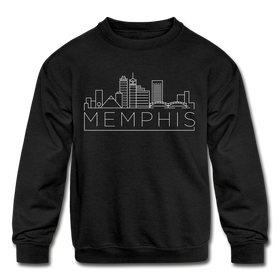 Memphis, Tennessee Youth Sweatshirt - Skyline Youth Memphis Crewneck Sweatshirt