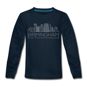 Birmingham, Alabama Youth Long Sleeve Shirt - Skyline Youth Long Sleeve Birmingham Tee