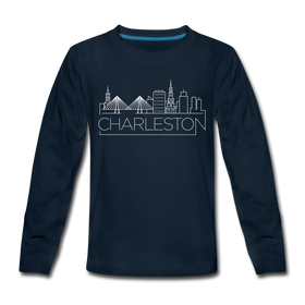 Charleston, South Carolina Youth Long Sleeve Shirt - Skyline Youth Long Sleeve Charleston Tee