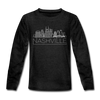 Nashville, Tennessee Youth Long Sleeve Shirt - Skyline Youth Long Sleeve Nashville Tee