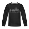 Pittsburgh, Pennsylvania Youth Long Sleeve Shirt - Skyline Youth Long Sleeve Pittsburgh Tee