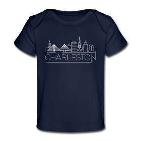 Charleston, South Carolina Baby T-Shirt - Organic Skyline Charleston Infant T-Shirt