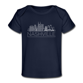 Nashville, Tennessee Baby T-Shirt - Organic Skyline Nashville Infant T-Shirt