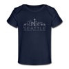Seattle, Washington Baby T-Shirt - Organic Skyline Seattle Infant T-Shirt