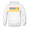 Boston, Massachusetts Hoodie - Retro Sunrise Boston Hooded Sweatshirt