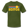 Boston, Massachusetts T-Shirt - Retro Sunrise Unisex Boston T Shirt