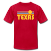 Texas T-Shirt - Retro Sunrise Unisex Texas T Shirt