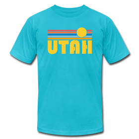 Utah T-Shirt - Retro Sunrise Unisex Utah T Shirt