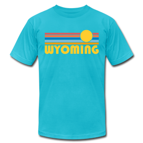Wyoming T-Shirt - Retro Sunrise Unisex Wyoming T Shirt