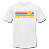 West Virginia T-Shirt - Retro Sunrise Unisex West Virginia T Shirt