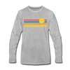 Massachusetts Long Sleeve T-Shirt - Retro Sunrise Unisex Massachusetts Long Sleeve Shirt