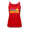 Boston, Massachusetts Women's Tank Top - Retro Sunrise Women's Boston Tank Top
