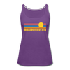 Massachusetts Women's Tank Top - Retro Sunrise Women's Massachusetts Tank Top